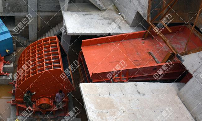 反击锤式破碎机案例现场——河北白沙