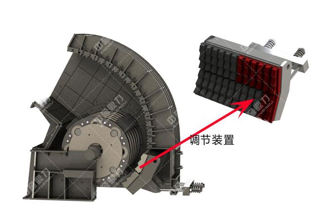 锤式破碎机调节装置