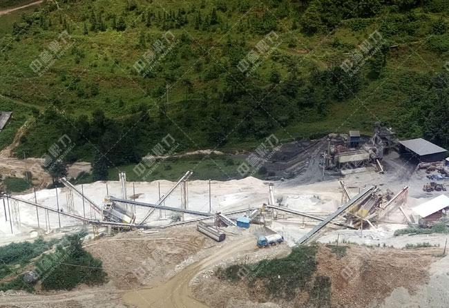 云南腾冲时产600吨精品砂石骨料生产线