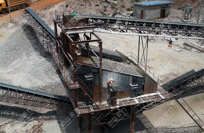 凉山普格县晟葳矿业时产700吨石料生产线