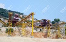 新余黄贵根采石场时产500吨砂石料生产线